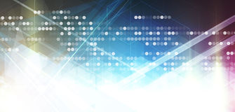 Abstrakt teknologibakgrundsaffär & utvecklingsriktning Arkivfoto
