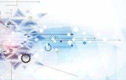 Abstrakt teknologibakgrundsaffär & utvecklingsriktning Royaltyfria Bilder