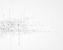 Abstrakt teknologibakgrundsaffär & utvecklingsriktning Fotografering för Bildbyråer
