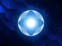 Abstrakt teknologibegreppsbakgrund också vektor för coreldrawillustration Arkivbild