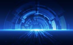 Abstrakt teknologihastighetsbegrepp Det kan vara nödvändigt för kapacitet av designarbete Royaltyfria Bilder