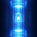 Abstrakt teknologisäkerhet på bakgrund för globalt nätverk, vektorillustration Royaltyfri Fotografi
