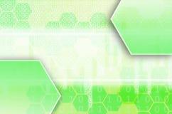 Abstrakt teknologisk bakgrund som består av en uppsättning av sexhörningen Arkivfoto
