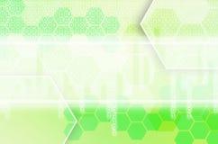 Abstrakt teknologisk bakgrund som består av en uppsättning av sexhörningen Royaltyfria Bilder