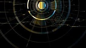 Abstrakt teknologisk metallisk utrymmebakgrund för vektor Royaltyfri Foto