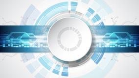 Abstrakt teknologiskt bakgrundsbegrepp med olika teknologibeståndsdelar illustrationvektor Arkivfoton
