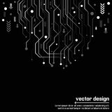 Abstrakt teknologiströmkretsbräde Arkivfoto
