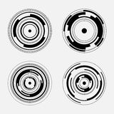 Abstrakt teknologitecken - uppsättning av futuristiska cirklar Royaltyfri Fotografi