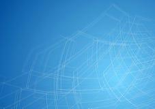 Abstrakt teknologiteckning Arkivbild