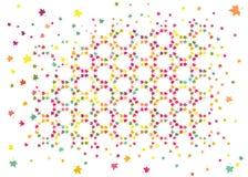 Abstrakt tekstura z lub kolorowymi koloru żółtego, pomarańcze, menchii, zieleni i błękita liśćmi, Dla sieć projekta, dziecka prze Zdjęcia Royalty Free
