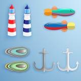 abstrakt tema för abstraktionbakgrundshav Royaltyfri Bild