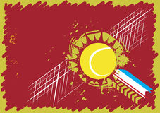Abstrakt tennisbana Royaltyfri Illustrationer