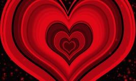 abstrakt text för avstånd för modell för förälskelse för bild för begreppshjärtaillustration Arkivfoton