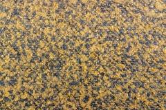 Abstrakt textur av brunt woolen tyg med svarta prickar Bakgrund för naturligt tyg Royaltyfri Bild