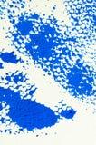 Abstrakt textur av den blåa gouachen, printmaking detalj Royaltyfri Bild