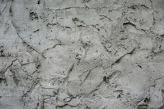 Abstrakt textur av den stelnade cementmorteln för en bakgrund Arkivfoton