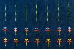 Abstrakt textur av den Thailand textilen Arkivfoton