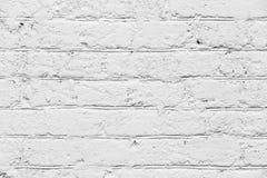 Abstrakt textur av den vita målade tegelstenväggen arkivfoto