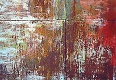 Abstrakt textur av en gammal rostig tenn- vägg Royaltyfri Bild