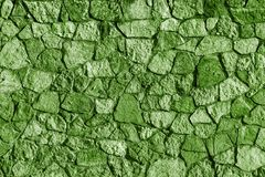 Abstrakt textur av en grön färg för stenyttersida Royaltyfria Bilder