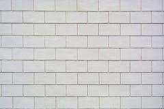 Abstrakt textur av en ny ren vägg av vita tegelstenkvarter Arkivfoton