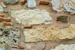 Abstrakt textur av en stenvägg Royaltyfria Bilder