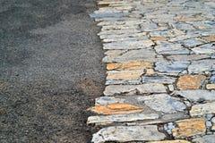 Abstrakt textur av en trottoar Arkivbilder