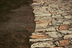Abstrakt textur av en trottoar Royaltyfria Bilder