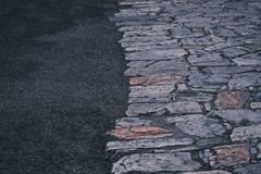 Abstrakt textur av en trottoar Royaltyfri Fotografi