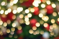 Abstrakt textur av färgrika suddigheter för bakgrund för julljus Arkivfoto