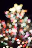 Abstrakt textur av färgrika suddigheter för bakgrund för julljus Royaltyfri Bild