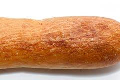 Abstrakt textur av franskt bröd som isoleras på vit Royaltyfri Bild