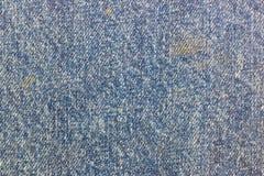 Abstrakt textur av gammalt blått bomullstyg med smutsiga fläckar Bakgrund för naturligt tyg Royaltyfria Foton