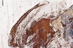 Abstrakt textur av gammalt järn med sprickor och målarfärg Royaltyfri Fotografi