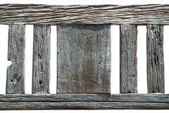 Abstrakt textur av gammalt trä på vit bakgrund, trädecorati Arkivbilder