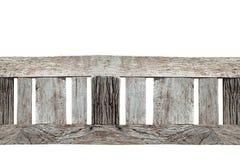 Abstrakt textur av gammalt trä på vit bakgrund, trädecorati Arkivbild