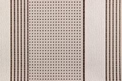 Abstrakt textur av grått bomullstyg med vertikala linjer och prickar Bakgrund för naturligt tyg Royaltyfri Foto