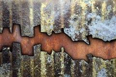 Abstrakt textur av grungy riden ut metall Royaltyfri Fotografi
