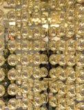 Abstrakt textur av guld- metallbollar Royaltyfria Foton