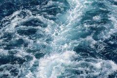 Abstrakt textur av havsvatten Arkivbild