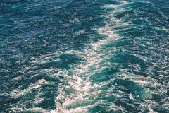 Abstrakt textur av havsvatten Arkivfoto