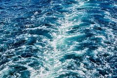 Abstrakt textur av havsvatten Royaltyfri Bild
