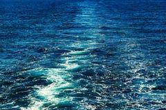 Abstrakt textur av havsvatten Arkivfoton
