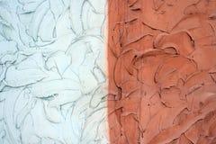 Abstrakt textur av konkret murbruk av röd och vit färg Royaltyfria Foton