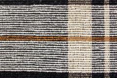 Abstrakt textur av woolen tyg med vertikala och horisontallinjer Bakgrund för naturligt tyg Arkivbilder