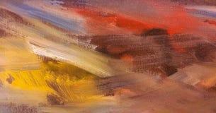 Abstrakt textur för olje- målarfärg på kanfas, abstrakt bakgrundsmålning Måla texturbakgrund Arkivfoto
