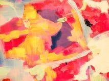 Abstrakt textur för olje- målarfärg på papper Royaltyfria Foton