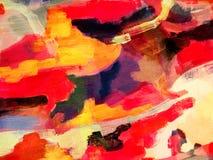 Abstrakt textur för olje- målarfärg på papper Arkivfoton