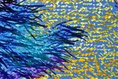 Abstrakt textur från färgband Arkivfoton