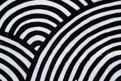 Abstrakt textur, koncentriska svartvita cirklar Royaltyfri Fotografi